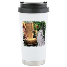 Samoyed Art Travel Coffee Mug