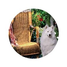 "Samoyed Art 3.5"" Button (100 pack)"