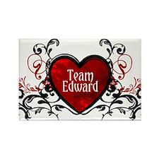 Team Edward heart Rectangle Magnet
