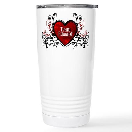 Team Edward heart Stainless Steel Travel Mug