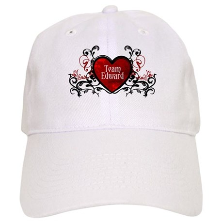 Team Edward heart Cap
