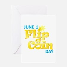 Flip a Coin Day Greeting Card