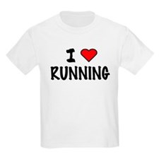 I LOVE RUNNING Kids T-Shirt