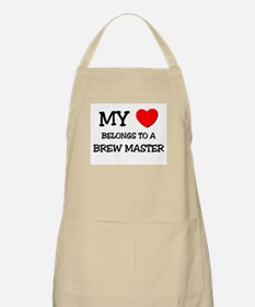 My Heart Belongs To A BREW MASTER BBQ Apron