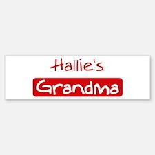 Hallies Grandma Bumper Bumper Bumper Sticker