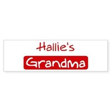 Hallies Grandma Bumper Car Car Sticker