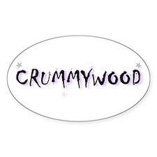 Crummywood! Oval Decal