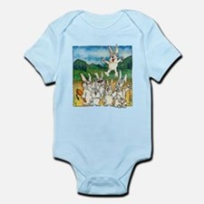 Bunny Rabbits Jump Infant Bodysuit