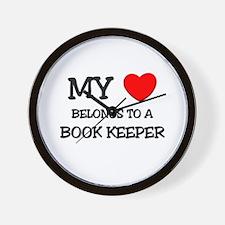 My Heart Belongs To A BOOK KEEPER Wall Clock
