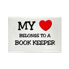 My Heart Belongs To A BOOK KEEPER Rectangle Magnet
