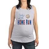 Daddys little home run Maternity Tank Top