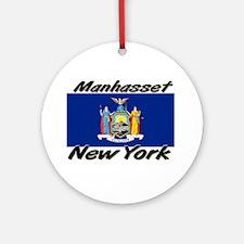 Manhasset New York Ornament (Round)