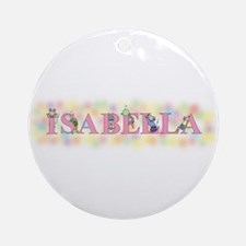 """Isabella"" with Mice Ornament (Round)"