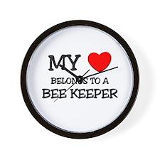 My Heart Belongs To A BEE KEEPER Wall Clock