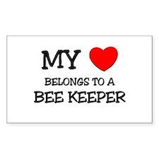 My Heart Belongs To A BEE KEEPER Bumper Stickers