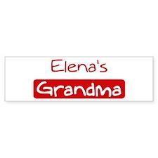 Elenas Grandma Bumper Bumper Sticker