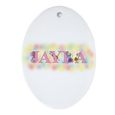"""""""Jayla"""" with Mice Oval Ornament"""