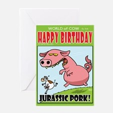 Jurassic Pork Greeting Card