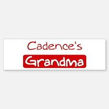 Cadences Grandma Bumper Bumper Bumper Sticker