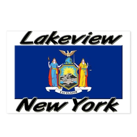 Lakeview New York Postcards (Package of 8)
