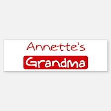 Annettes Grandma Bumper Bumper Bumper Sticker