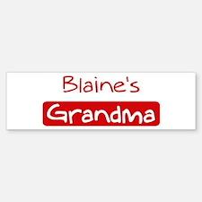 Blaines Grandma Bumper Bumper Bumper Sticker