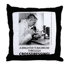 Crossdressing Throw Pillow