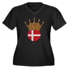 King Of Denmark Women's Plus Size V-Neck Dark T-Sh