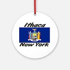 Ithaca New York Ornament (Round)