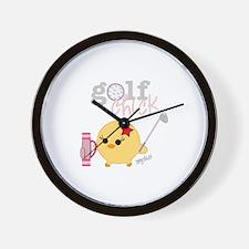 Golf Chick Wall Clock