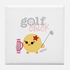 Golf Chick Tile Coaster