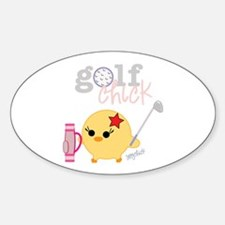 Golf Chick Oval Decal