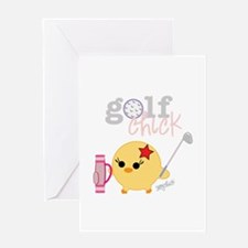 Golf Chick Greeting Card
