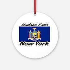 Hudson Falls New York Ornament (Round)