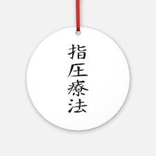 Acupressure - Kanji Symbol Ornament (Round)