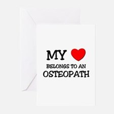 My Heart Belongs To An OSTEOPATH Greeting Cards (P