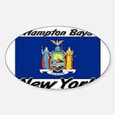 Hampton Bays New York Oval Decal