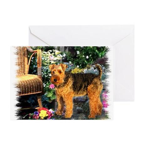 Welsh Terrier Art Greeting Card