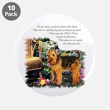 """Welsh Terrier Art 3.5"""" Button (10 pack)"""