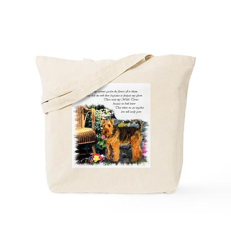 Welsh Terrier Art Tote Bag