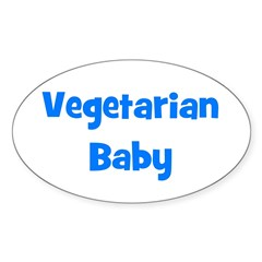 Vegetarian Baby - Multiple Co Oval Sticker