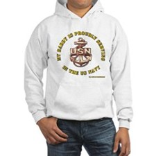 navy gold daddy Hoodie