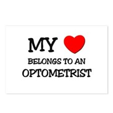 My Heart Belongs To An OPTOMETRIST Postcards (Pack