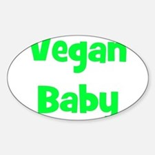 Vegan Baby - Multiple Colors Oval Decal