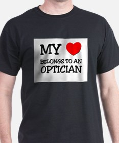 My Heart Belongs To An OPTICIAN T-Shirt