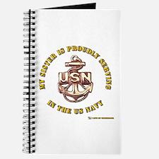 Navy Gold Sister Journal