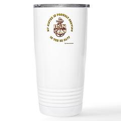 Navy Gold Sister Travel Mug