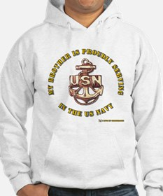 Navy gold Brother Hoodie