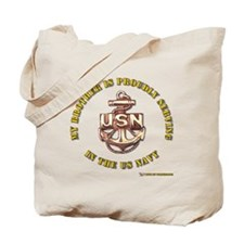 Navy gold Brother Tote Bag
