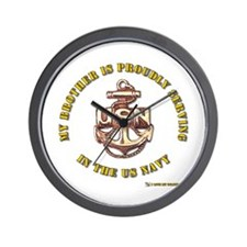 Navy gold Brother Wall Clock
